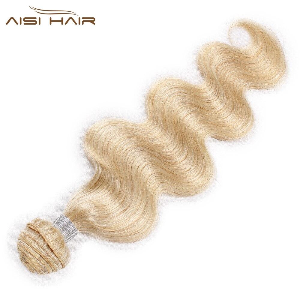 Aisi Hair 613 Brazilian Body Wave Bundles Non-Remy Human Hair Weft 1 Pcs  Long Blonde Human Hair Weave Bundles 10-26 Inches