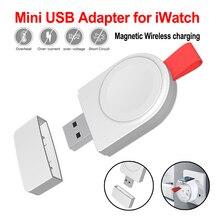 Переносное Беспроводное зарядное устройство для Apple Watch 2 быстрое магнитное устройство для зарядки для Apple Watch Series 4 3 2 1 зарядное устройство