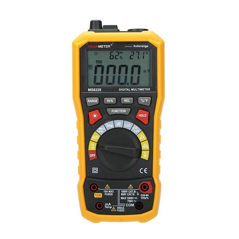 PEAKMETER MS8229 Auto-Range 5-in-1 Multifunctional Handheld 2.8