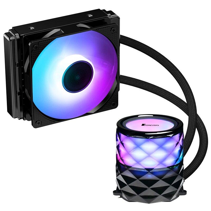 JONSBO TW3-120  CPU Water Clooer (Diamond Cutting Shape/colorful Streamer Cold Head/PWM Temperature Control/multi-platform)