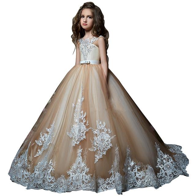fancy little girls dresses kids puffy party dresses for girls vestido de  daminha first communion dress lace flower girl dress 68bf84e31bca