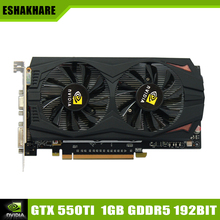 New Arrival Game Graphics Card Geforce GTX 550Ti Video Card GDDR5 1G 192Bit Place De Video Card Support PC Game Full HD 1080 P