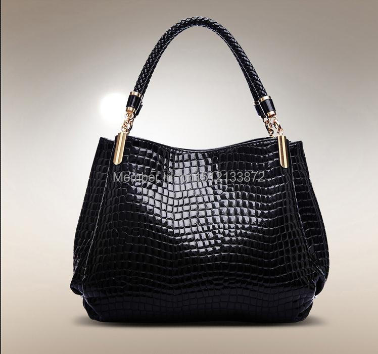 ФОТО Hot Women Handbag 2015 New Fashion Women Messenger Bags Crocodile Pattern PU Leather Shoulder Bag Vintage Crossbody Bag Hot Tote