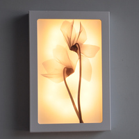 12W Fashion Arts Painting PVC LED Wall Lamp Modern Bedside Light Wall Sconces Fixtures For Stairs Bar Cafe Indoor Home Lighting