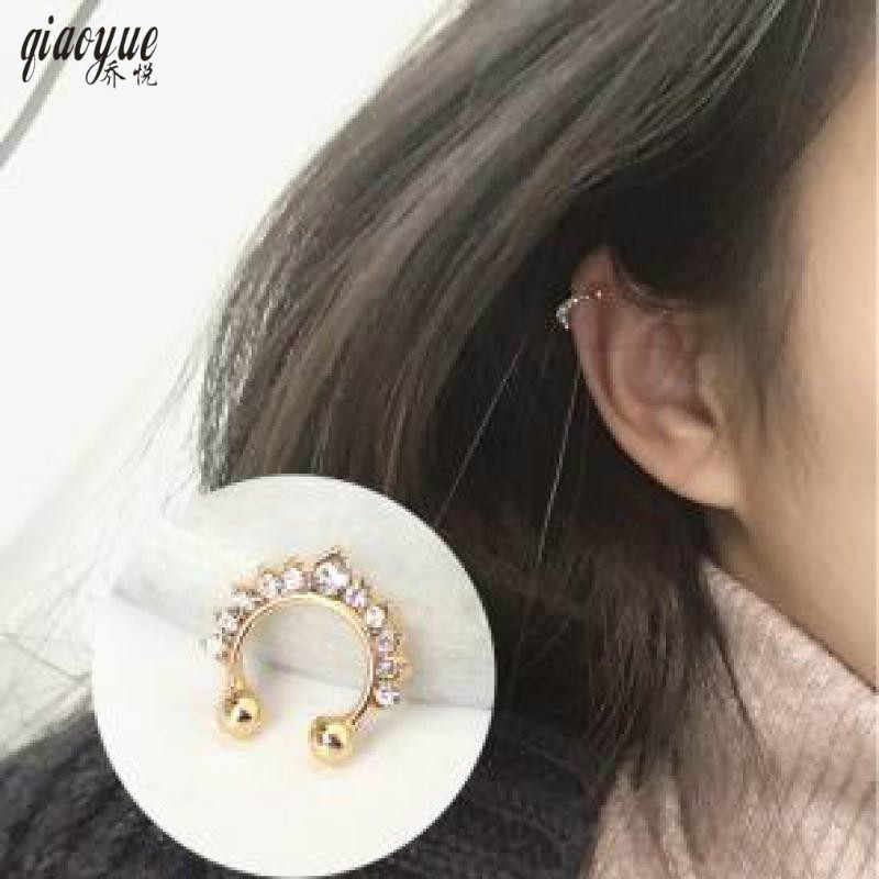 Koreańska amerykańska biżuteria prosta Retro na wszystkie mecze korona typu U osobowość męskiej i żeńskiej klipsy do uszu biżuteria