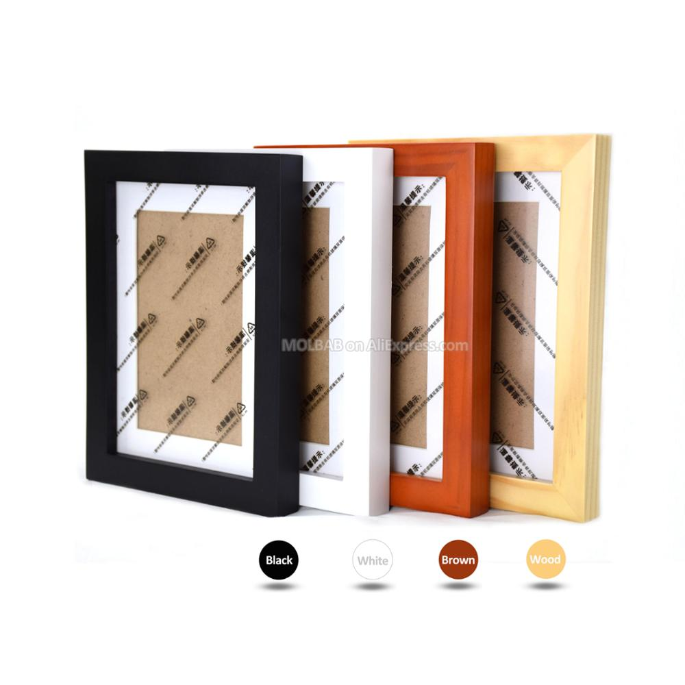modern wood picture frames. MOLBAB Wood Square Photo Frame Wall 12PCS Set Modern Wooden Picture Frames  Art Corridor Fotolijst Home Decor Fotorahmen 30x30cm-in From \u0026 Garden Modern Wood Picture Frames