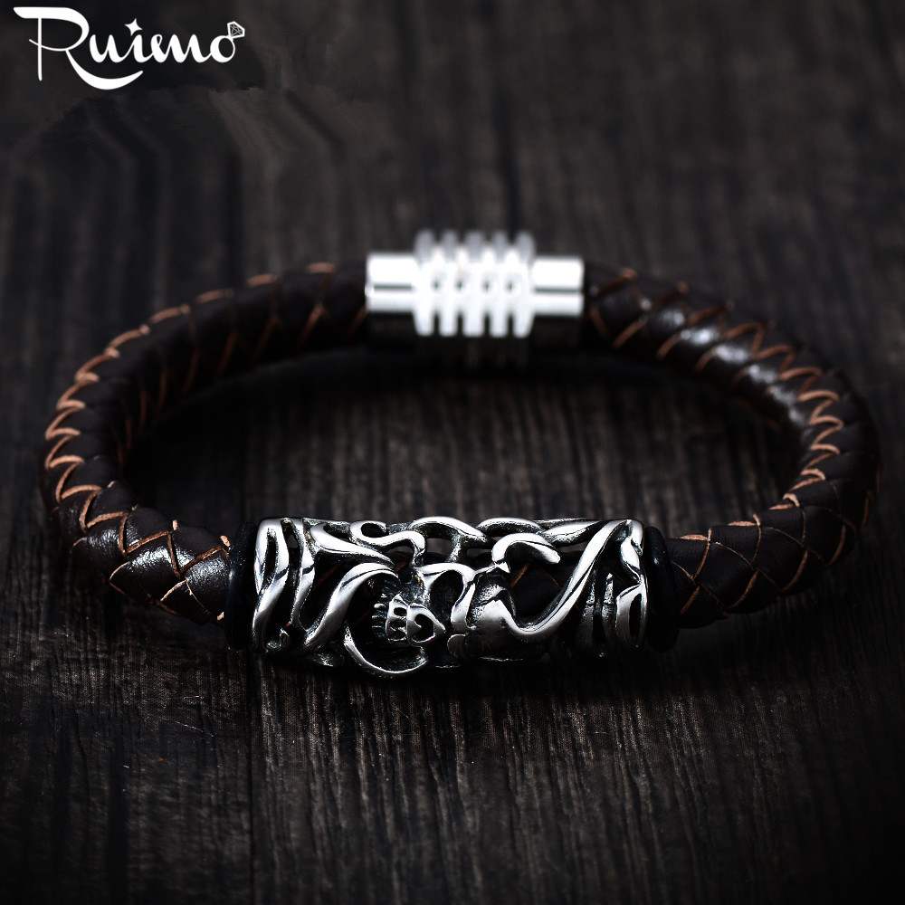 7b9147d48966 RUIMO 6 Types 8mm Braided Genuine Leather Rope String Rubber Cord For  Bracelet Jewelry Craft Making