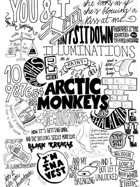 arctic monkeys painting indie rock band music poster 50x75cm free
