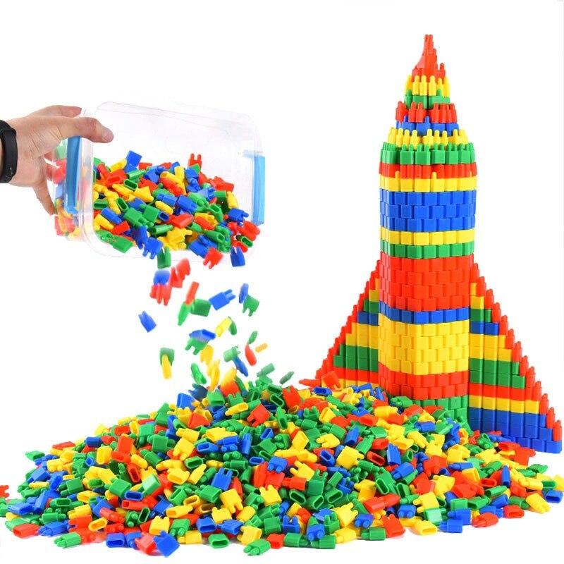 300-500pcs Building Blocks Toys Classic Bullet Magnetic Building Toy Blocks Kids Children Stitching Christmas Gift Block