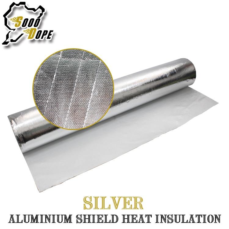 40 pouces * 378 pouces 100*960 cm feuille d'aluminium bouclier isolation thermique couche à bulles haute réflectivité ignifuge terrasse de toit