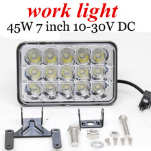 best selling 2x45W LED Work light lamp square Flood Beam off road ATV SUV TRUCK Trains Boat Bus waterproof and  anti-corrosive