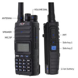 Image 5 - Nieuwe Tyt TH 350 Walkie Talkie Tri Band 136 174 Mhz 220 260 Mhz 400 470 Mhz Tri display 5W Hoge Kwaliteit Twee Manier Radio Fm Transceiver