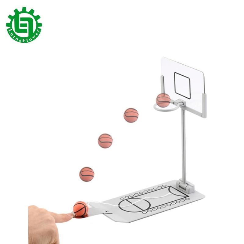 Tragbare Mini Tisch Basketballkorb Indoor Desktop Spielzeug Miniatur Faltbarer Schreibtisch Basketball Ziel Spiel Party Indoor Supplies Geschenk