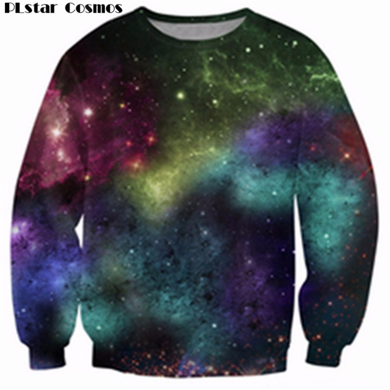 PLstar Cosmos God Barf Crewneck Sweatshirt Sick Jumper Galaxy Space Men Women Harajuku Hoodies casual Tops Hoodies Size S-5XL