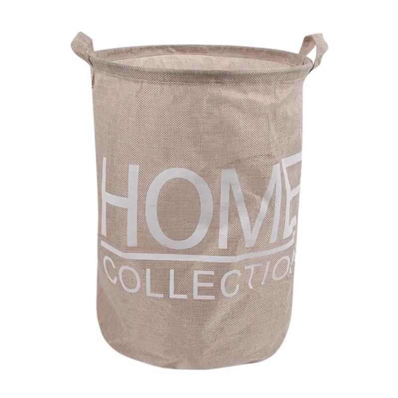 TOP!-Laundry Basket Dirty Clothes Storage Fashion Waterproof Large Basket Debris Storage Box A803 22,Cream Color
