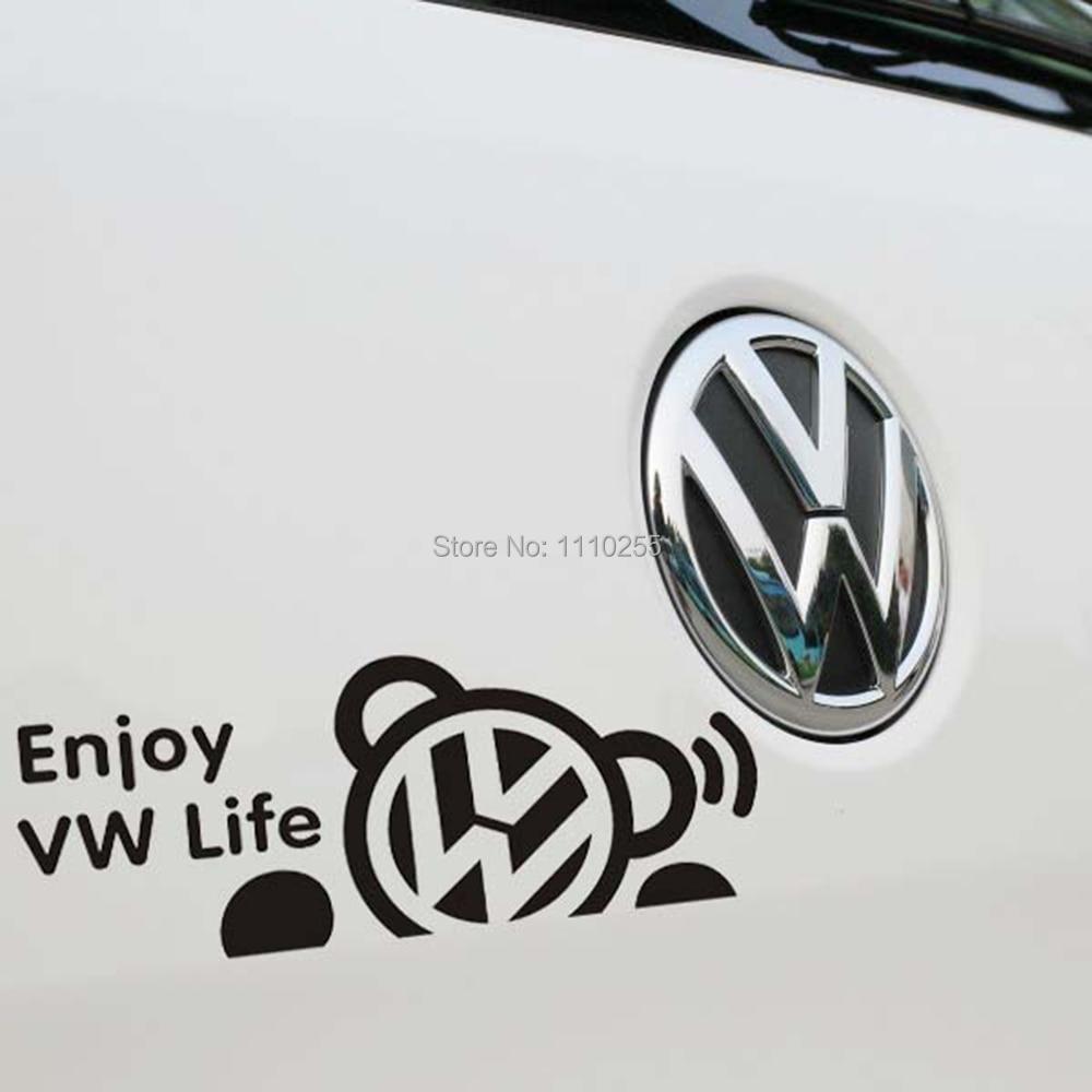 Car sticker design kl - Newest Design Funny Car Stickers Car Decal Enjoy Vw Life For T Volkswagen Vw Golf Touareg