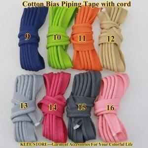 Image 2 - Miễn phí vận chuyển % cotton Thiên Vị Đường Ống, thiên vị piping tape có dây, kích thước: 12 mét, 15yds DIY làm, may home textile handmade Hồng