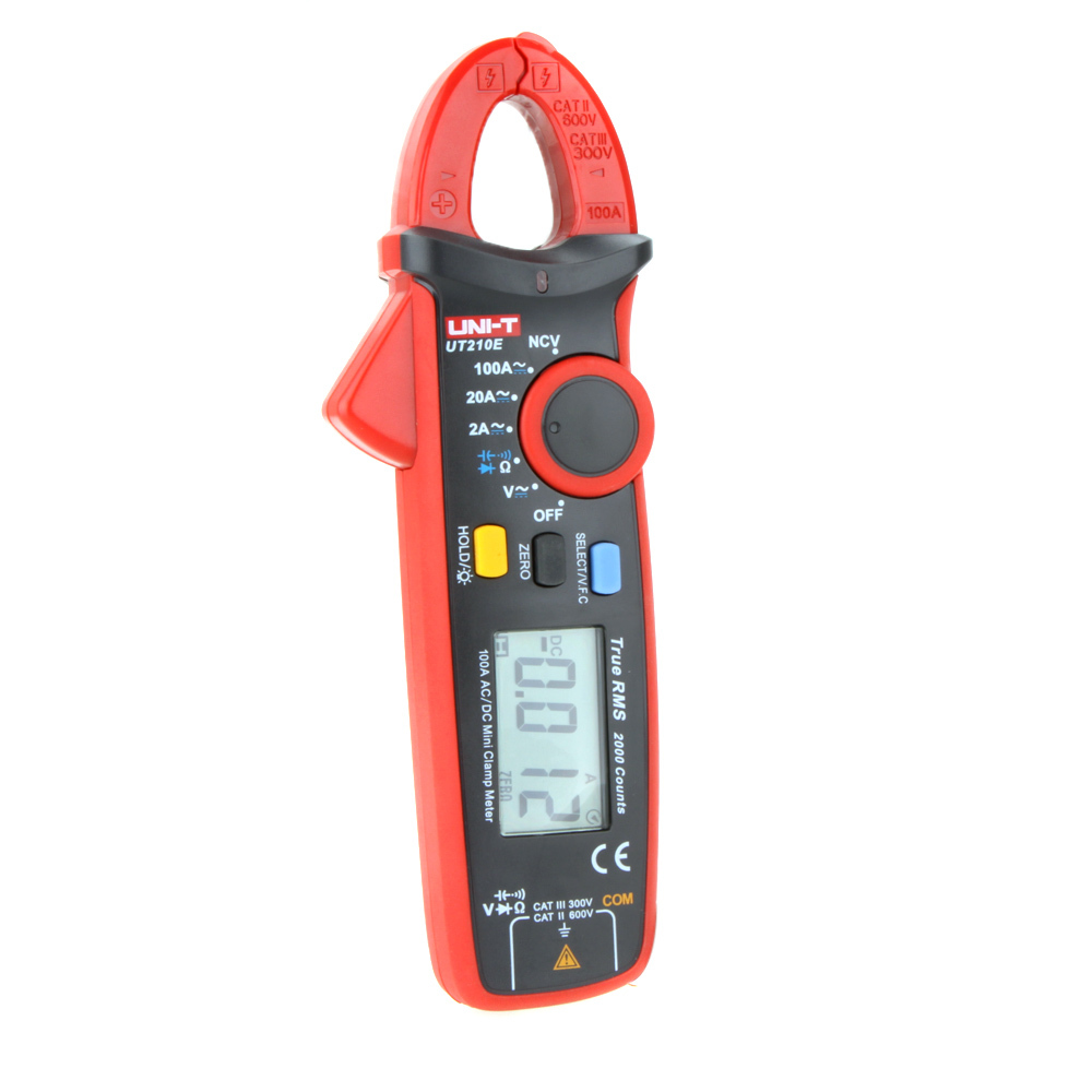 UNI-T UT210E True RMS AC/DC Current Mini Clamp Meters w/ Capacitance Tester Digital Earth Ground Multimeter Megohmmeter uni t ut206a 1000a digital clamp meters voltage current resistance insulation tester earth ground uni t megohmmeter multimeter