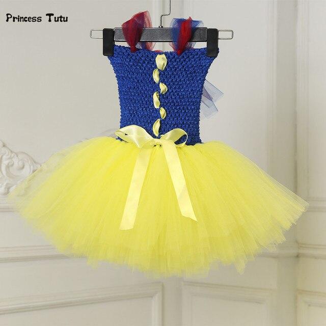 Snow White Baby Dress Tulle Newborn Flower Princess Tutu Dress