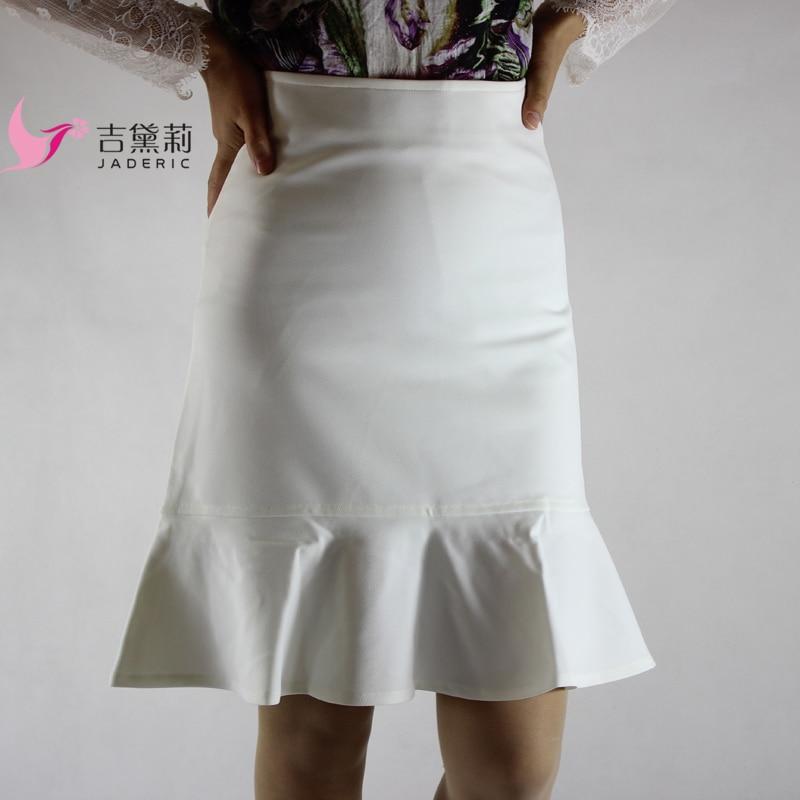Sukně Jaderic Ruffle OL Ženy Sexy Štíhlá Elegantní Pracovní Jaro Podzimní Sukně 2018 Móda Nové Krátké sukně do pasu S-4XL