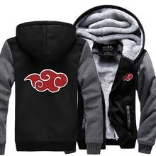 2019 new autumn winter men thicken jacket Anime Naruto Uzumaki Hoodies sweatshirts Red clouds hoodie loose fit M-4XL