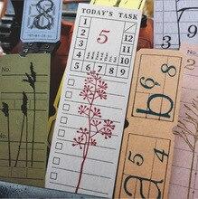 купить Retro Ticket Memo Pad Word Pocket Agenda Planner List Vintage Notepad Diary Stationery School Office Supplies Papeleria sl2039 по цене 85.19 рублей