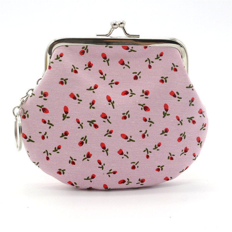 High Qulaity Coin Purse For Women Brands Lady Retro Vintage Flower Small Wallet Hasp Small Purse Coin Female Clutch Bags Bolsa