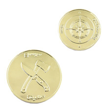 Wholesale Patriotism Custom Plated Coins Golden Souvenir Cheap Commemorative Replica Gold Chinese Style