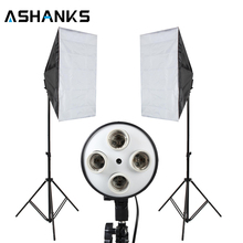 Photo Studio Softbox Kit Фотооборудование 2PCS 50×70 Softbox Light Stand для камеры Photo Studio Diffuser BA350