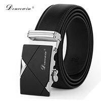 Fashion Designer Leather Strap Male Automatic Buckle Belts For Men Authentic Girdle Trend Men S Belts
