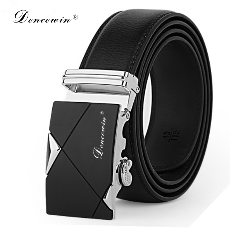 free shipping men's fashion100% Genuine Leather belts  for men High quality metal automatic buckle Strap  Famous Brand Belt