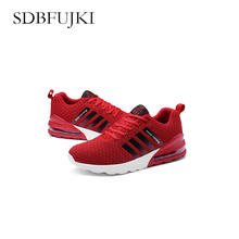 Running Shoes for Men 2019 Summer New Men Sneakers Lace Up Low Top Jogging Shoes Man Sport Shoes Breathable Size SDBFUJKI