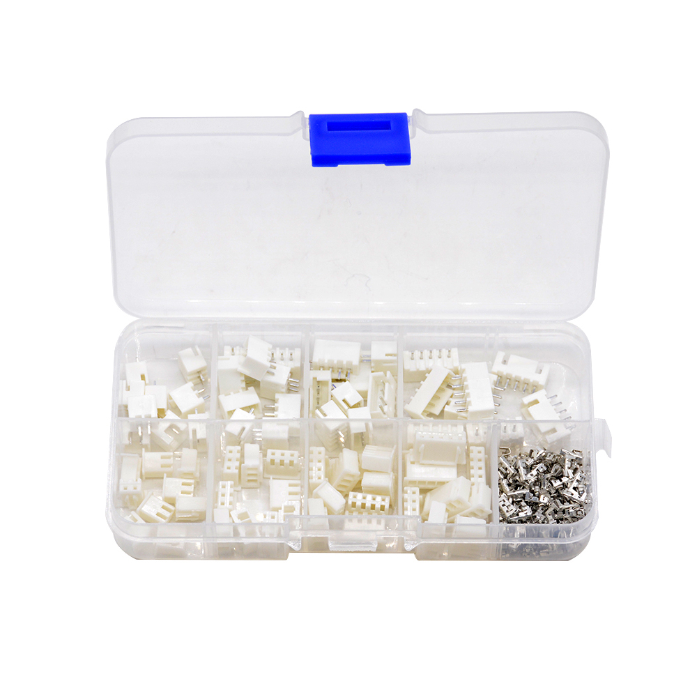 230pcs/box <font><b>XH</b></font> 2.54 2p 3p 4p 5pin <font><b>2.54mm</b></font> Pitch Terminal Kit / Housing / Pin Header JST Connector Wire Connectors Adapter <font><b>XH</b></font> Kits image