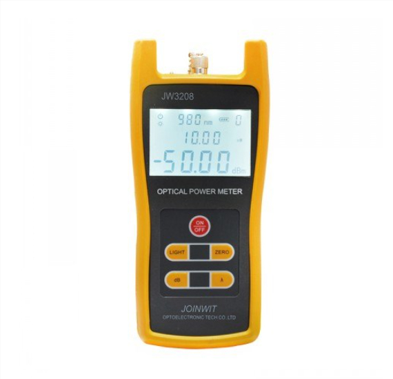 Free Delivery by Fedex JW3208C Joinwit -50~+26dBm Handheld Optical Power Meter Fiber Optic Tester SC FC ST Connector