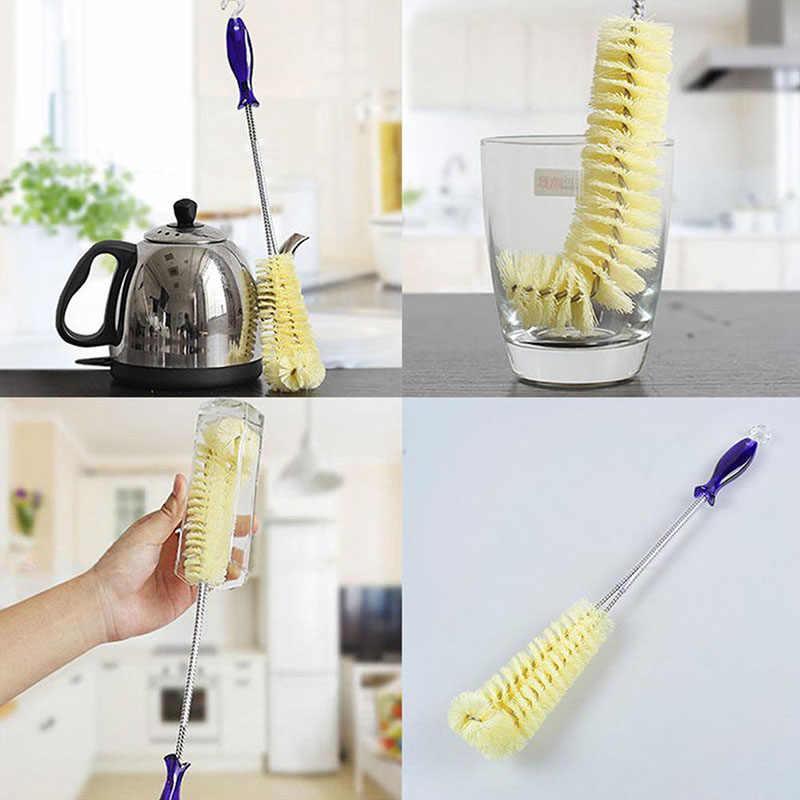 تنظيف المنزل فرشاة طويلة زجاجة كأس تنظيف فرشاة المشروب مقبض طويل تنظيف نظافة مع هوك أداة