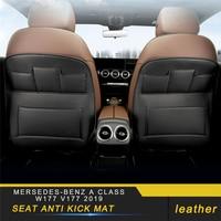 Auto Car Seat Anti Kick Mat Accessories for Mersedes benz A Class W177 V177 2019