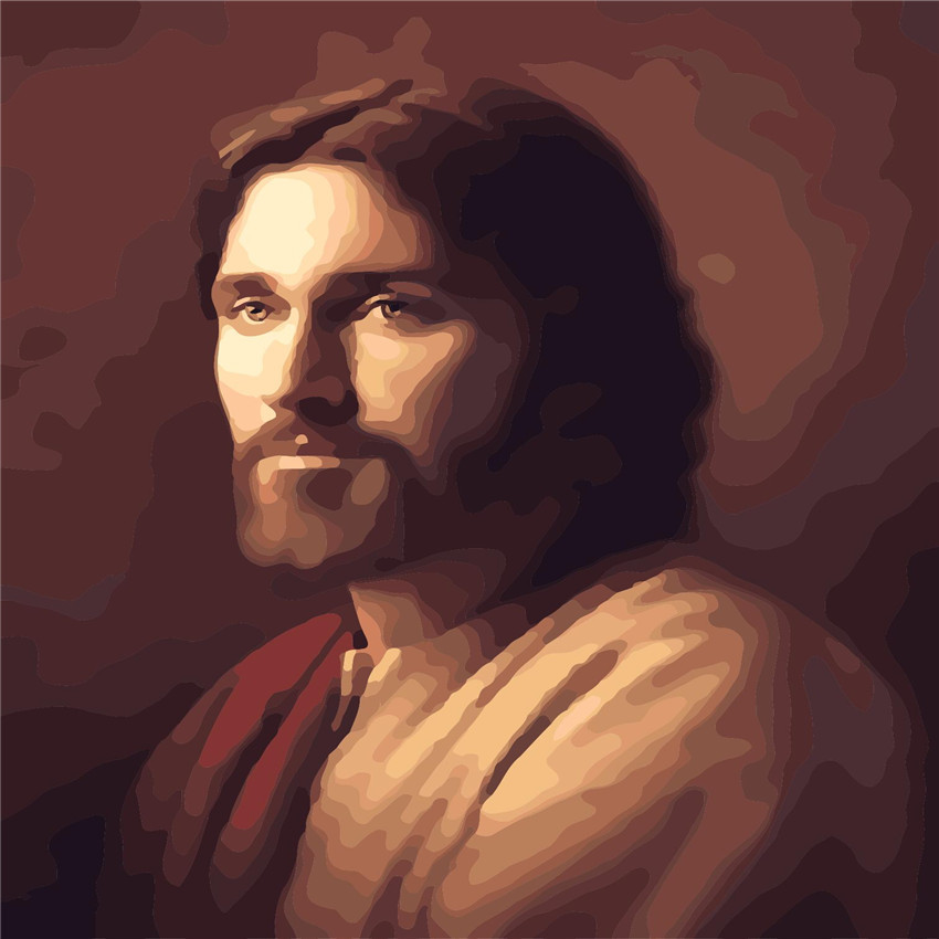 Jesus Saint Abstract Oil Painting By Numbers DIY Digital Picture Coloring On Canvas Unique Gift Home Decoration 2017
