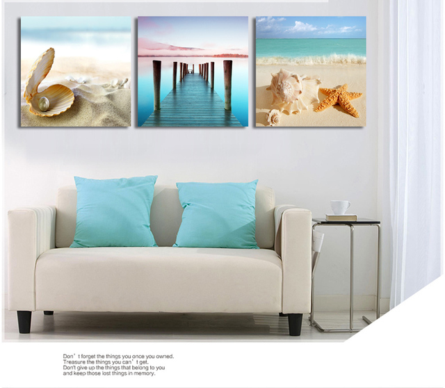 Giveaway Wall Sticker Modern Printed Blue Beach Seascapes