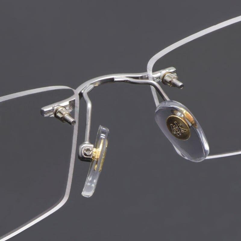 Reven Jate სათვალეები Rimless Eyeglasses Titanium - ტანსაცმლის აქსესუარები - ფოტო 5
