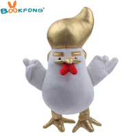 30cm Trump Chicken Plush Toy Funny Trump Rooster Soft Stuffed Animal Toy Gift For Friends Prop