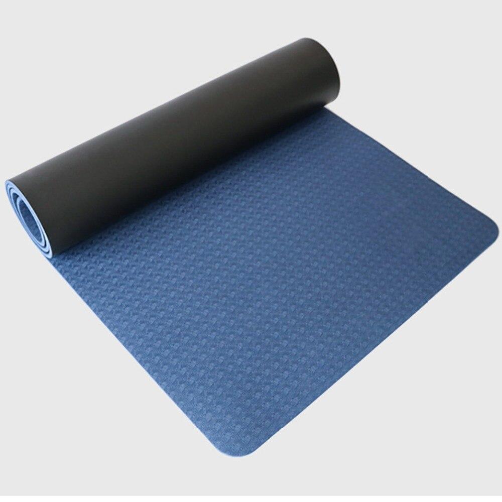 PU+TPE Hot Yoga Mat Sport 5MM Non Slip Alignment Guides