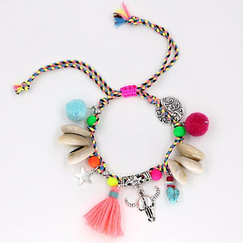 Handmade Shell Beads Strand Bracelets