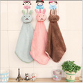 Cute Cartoon Rabbit Microfiber Kids Children Cartoon Absorbent Hand Dry Towel Lovely Towel For Kitchen Bathroom Use