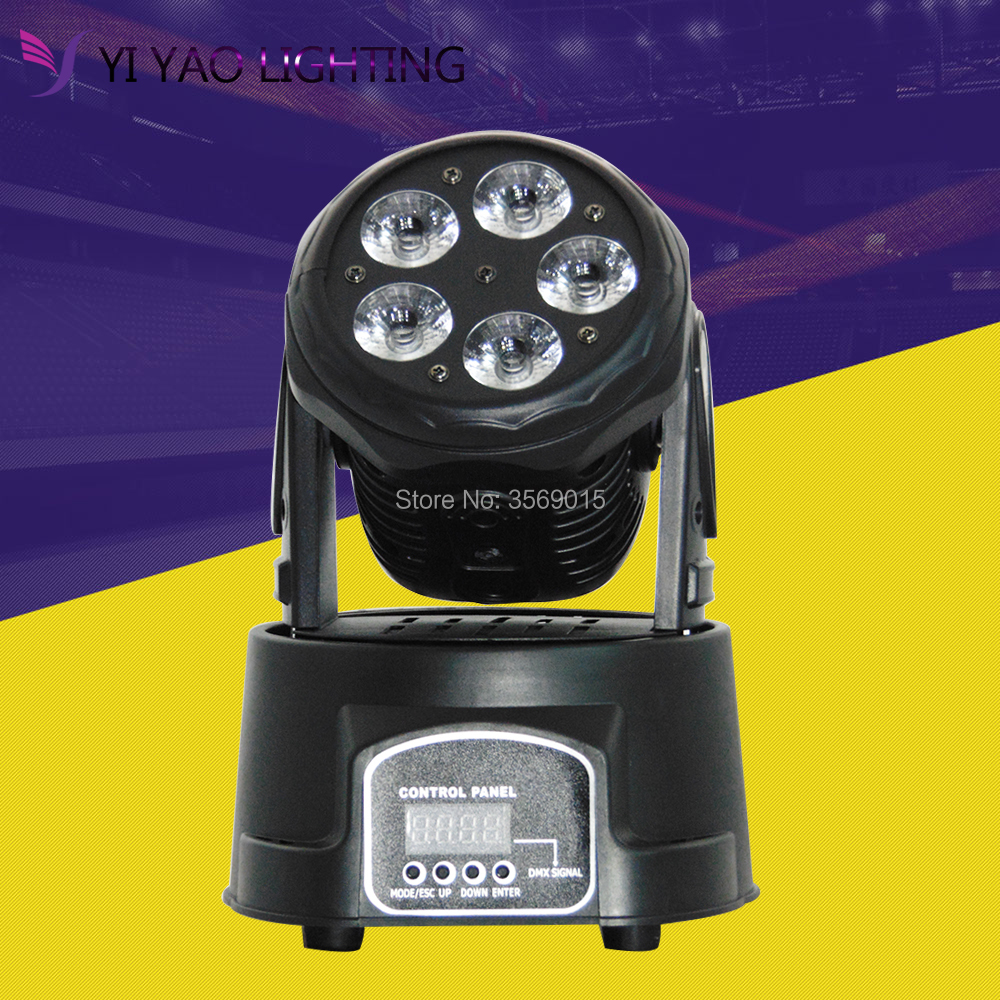 4pcs/lot Led Moving Head Mini Wash 5x15w RGBWA UV Party/Disco/Dj DMX Stage Lighting 2pcs lot mini led wash moving head 4x18w rgbwa uv dmx stage lights business high power with professional for party ktv disco dj