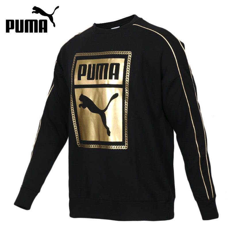 Original New Arrival 2018 PUMA Classics Graphics Box Crew Men's Pullover Jerseys Sportswear