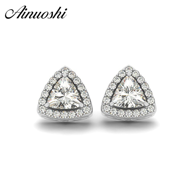 natural accessories diamond from women on gold for item in solid aaa earrings jewelry gemstone white trillion tanzanite