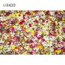 Laeacco Blooming Flower Wall Photo Backgrounds Customized Photography Backdrops For Studio