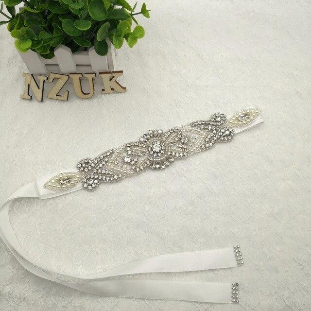 Bridal Sash Belt Vintage Floral Crystal Rhinestone Bride Bridesmaid