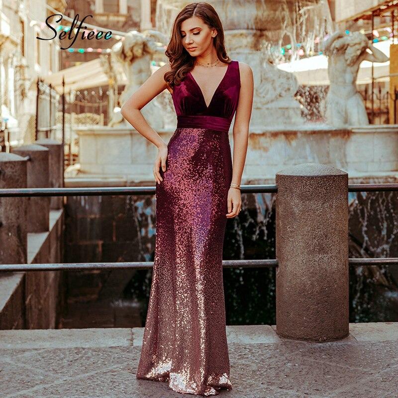bd24cfa28cabe US $21.78 IDress 2019 Black/ Gold/ Green Women Elegant V Neck ...