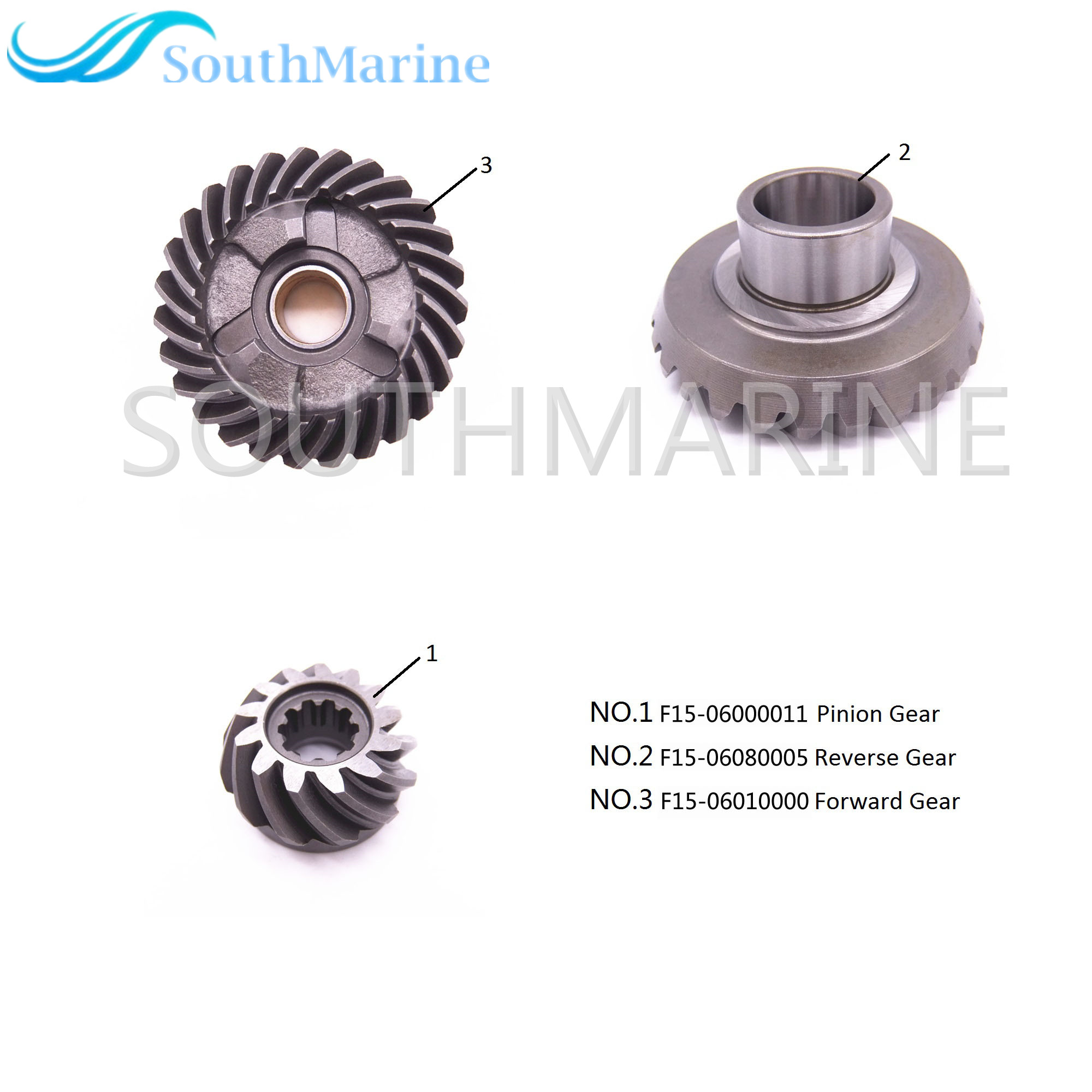 Gears and Pinion Set Kit for Parsun HDX Makara T9 9 T15 BM 2 Stroke Outboard